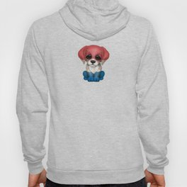 Cute Puppy Dog with flag of The Netherlands Hoody