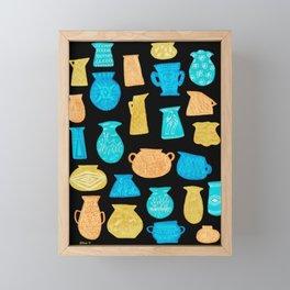 1960s Pottery by Amanda Laurel Atkins Framed Mini Art Print