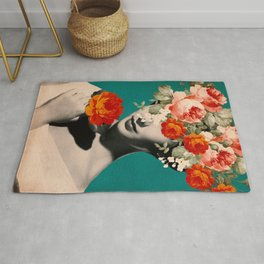 WOMAN WITH FLOWERS Rug