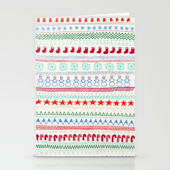 Christmas Doodles Stationery Cards