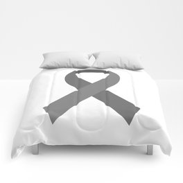 Gray Awareness Support Ribbon Comforters