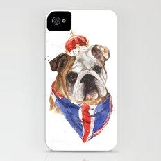 Thank you LONDON - British BULLDOG - Jubilee Art iPhone (4, 4s) Slim Case