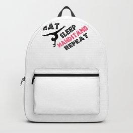 Fun Gymnastics Gift Eat Sleep Handstand Repeat Gymnast Gift Backpack
