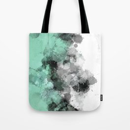 Mint Green Paint Splatter Abstract Tote Bag
