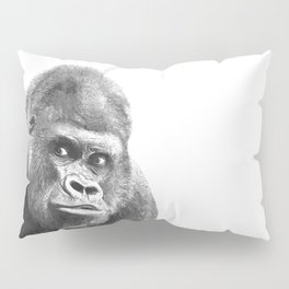 Black and White Gorilla Pillow Sham