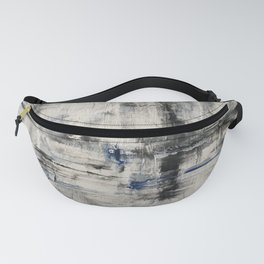 oil textured Black and White Fanny Pack