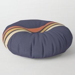 Vintage Retro Stripes Floor Pillow