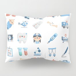 CUTE MEDICINE / SCIENCE / DOCTOR PATTERN Pillow Sham
