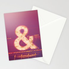 Neon Ampersand Stationery Cards