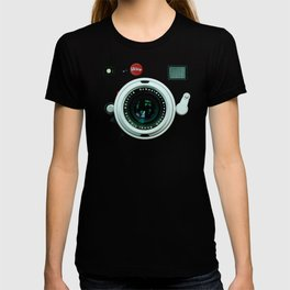 Retro vintage leather camera T-shirt