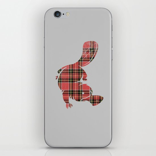 Plaidapus delux iPhone & iPod Skin