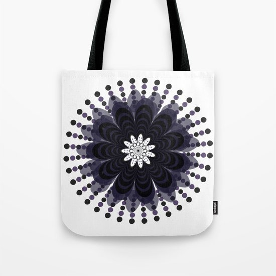 Graphic Mandala Flower Lilac Tote Bag