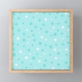 AFE Turquoise Snowflakes Framed Mini Art Print