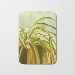 Chlorophytum, indoor potted plant, close up - image Bath Mat