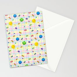 Candy Plaid Stationery Cards