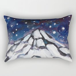 Night Mountain II Rectangular Pillow