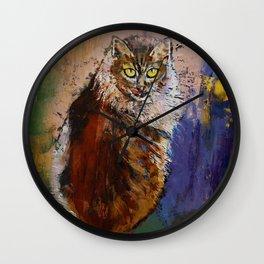 Siberian Cat Wall Clock