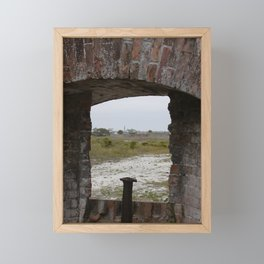 Gun Hold in Fort Pickens Framed Mini Art Print