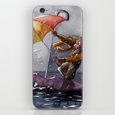 Umbrella Man iPhone & iPod Skin