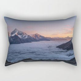 Weisshorn, Switzerland #society6 #decor #buyart Rectangular Pillow