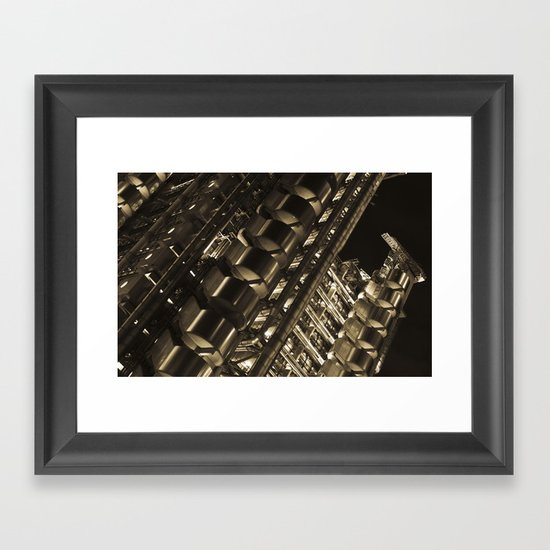 Gold Lloyds Framed Art Print