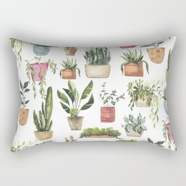 Potted Succulents Rectangular Pillow