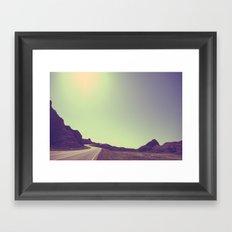 winding road Framed Art Print