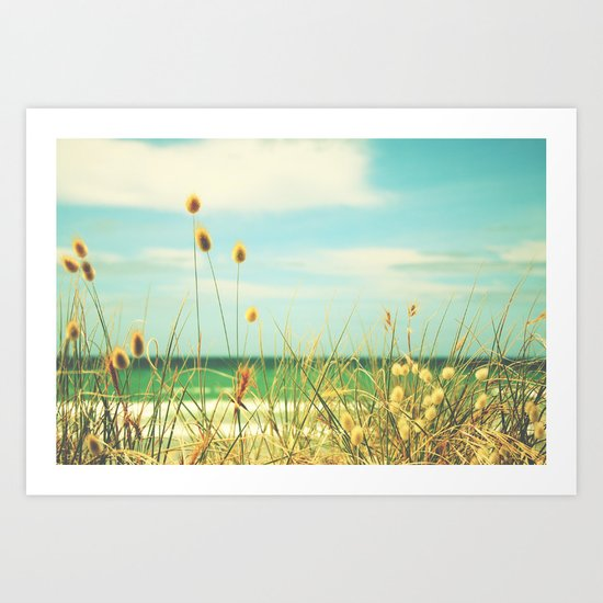 Somewhere Seaside Art Print
