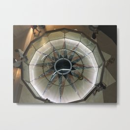 Foucault Pendulum from Above Metal Print