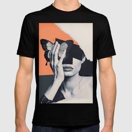 collage art / butterfly T-shirt