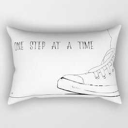 one step at a time Rectangular Pillow