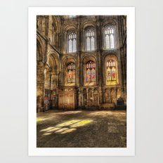 Sunlight Through the Windows Art Print