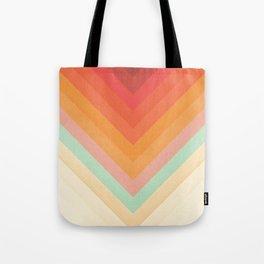 Rainbow Chevrons Tote Bag