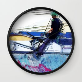 Hanging On  -  Stunt Scooter Artwork Wall Clock