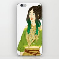 grantaire iPhone & iPod Skins featuring GENDERBENT : GRANTAIRE by Cy-lindric