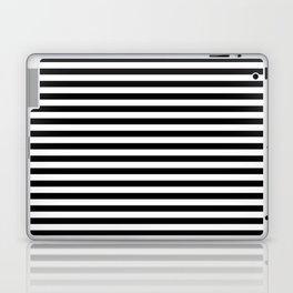 Black White Stripes Minimalist Laptop & iPad Skin