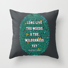 Weeds and Wilderness Throw Pillow