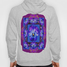 Purple Pansy & Butterflies Melody Abstract Hoody