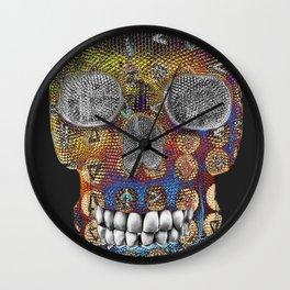 Tribal Skelly Wall Clock