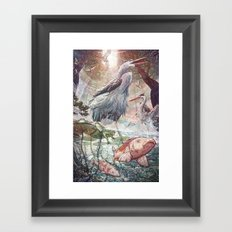 At the River Bend Framed Art Print