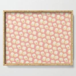 Marshmallow Pattern - Pink Serving Tray