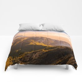 Creamy Dream - Mountains Landscape Photography Comforters
