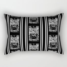 Black and White Tarot Print - The Lovers Rectangular Pillow