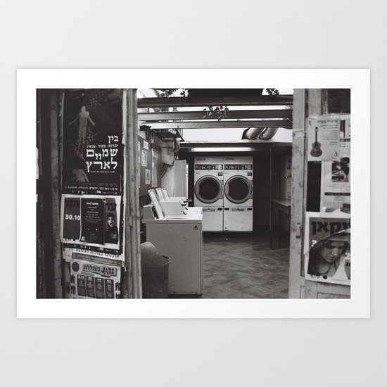 clean laundry Art Print