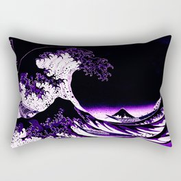 The Great Wave : Purple Rectangular Pillow