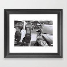 Parking Meter Framed Art Print