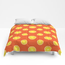a pattern of juicy orange Comforters