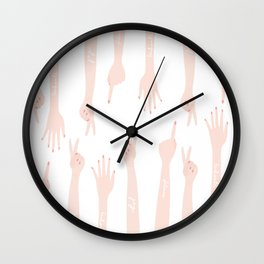 Hands to yourself Wall Clock