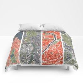 Six cities: NYC London Paris Berlin Rome Seville Comforters