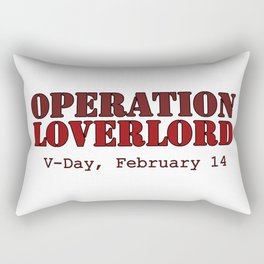 Operation Loverlord Red Rectangular Pillow